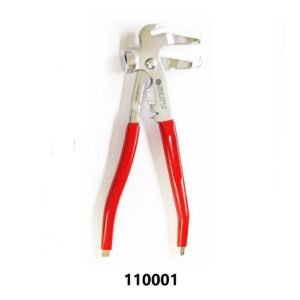Wheel Balancing Weight Plier& Hammer Tool (Premium) - Red Grip