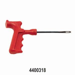 Close Eye Needle in Pistol Grip Tyre Repair Tool 4″ Red